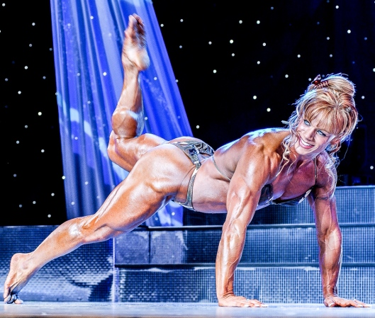 Cathy Lefrancois is a highly artistic poser - and a benefit when pro contests include a lightweight division.
