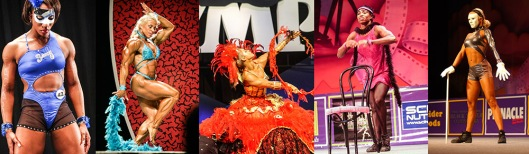 Costumes and props in bodybuilding posing could increase the entertainment value.