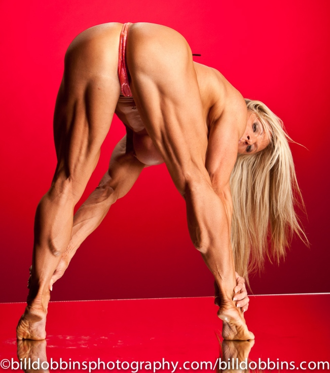 The glutes and hamstrings are a very impressive area on an in-shape female bodybuilder.  Like Debi Laszewski.