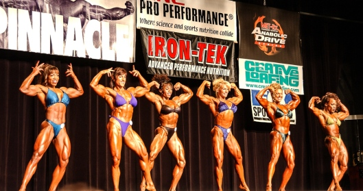 Unlike the pros, amateur female bodybuilders compete in weight divisions.
