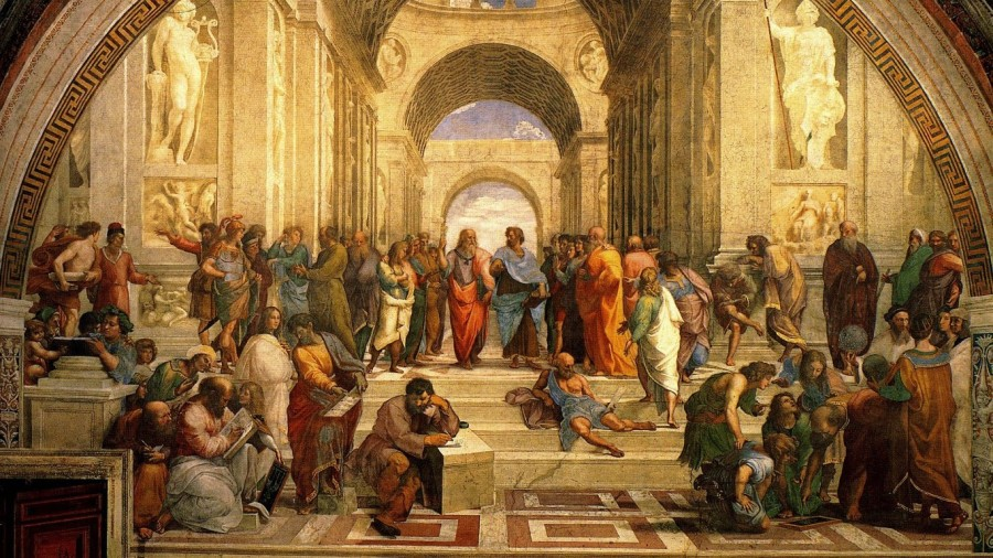renaissance-the-school-of-athens-classic-art-paitings-raphael-painter-rafael-philosophers-hd-wallpapers