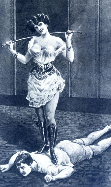woman foot on man